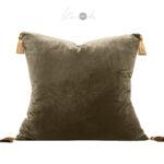 Crushed-velvet-cushion-brown-tassels