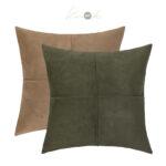 SCUBA-SUEDE-cushion-tan-and-green