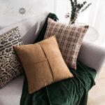 SCUBA-SUEDE-cushion-tan-and-green1