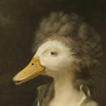 duck-character-animal-unframed-A4-print-detail