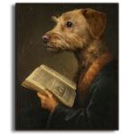 miniature-labradoodle-Maid-Wenefreda-portrait-framed-no-watermark