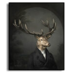 stag-character-animal-box-framed-print