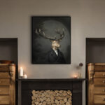 stag-interior-character-animal-framed-print