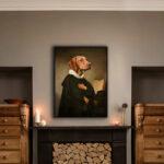 vizsla-interior-character-animal-framed-print