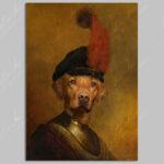 yellow-labrador-character-animal-A4-unframed-print