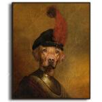 yellow-labrador-character-animal-framed-print