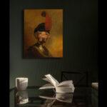 yellow-labrador-character-animal-framed-print1